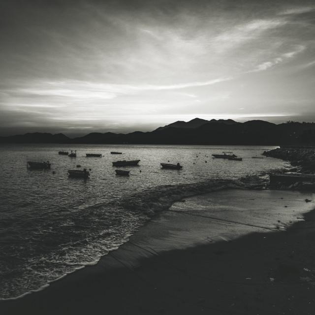 """""""Peng Chau Sunset and Beach"""" stock image"""