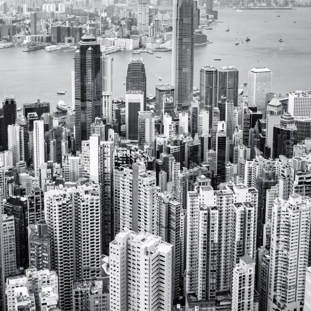 """Hong Kong from the Peak"" stock image"
