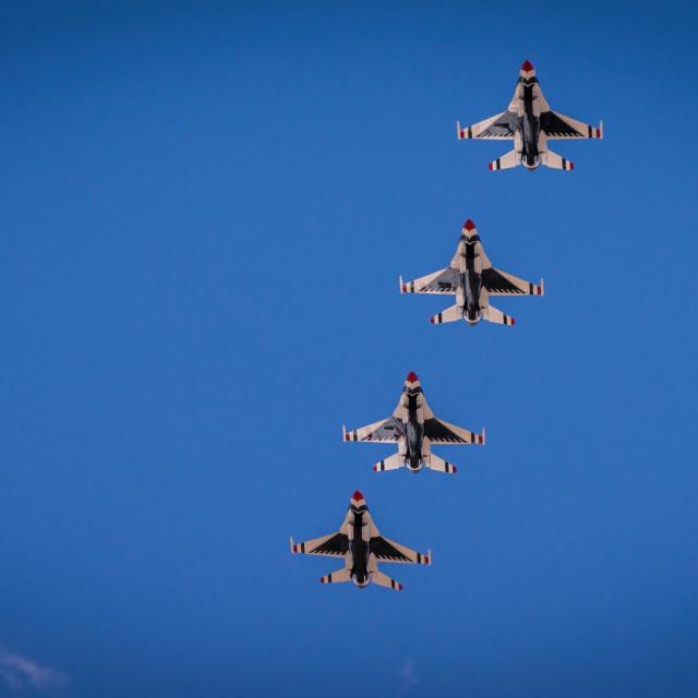 """""""U.S. Air Force Thunderbirds ~ Colorado Springs, Colorado"""" stock image"""
