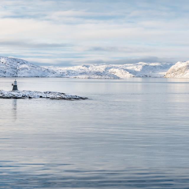 """Navigation Light, Norway"" stock image"