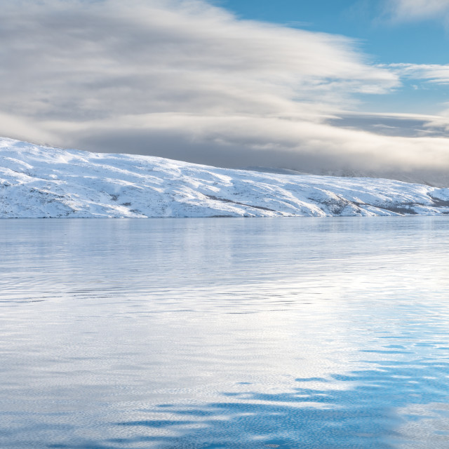 """""""Icy sea water, Norway"""" stock image"""