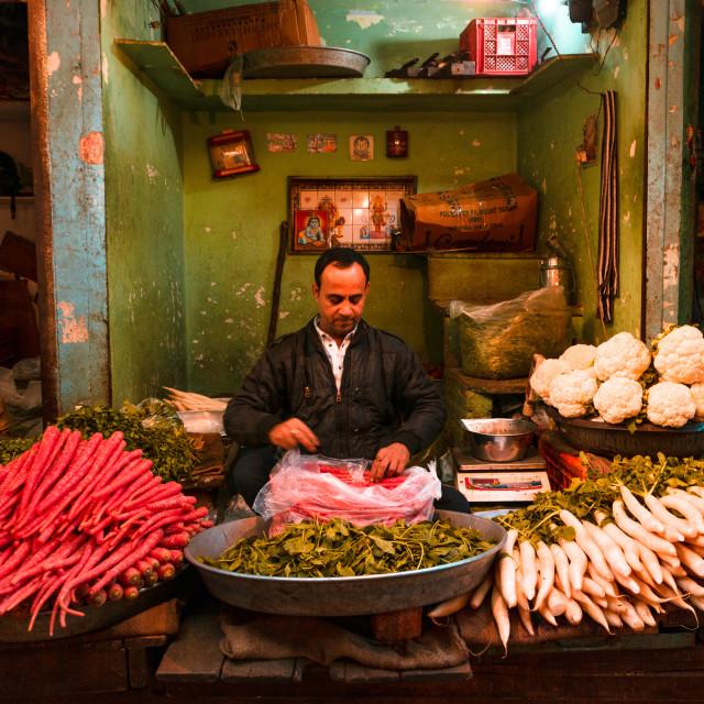 """Street Market India"" stock image"