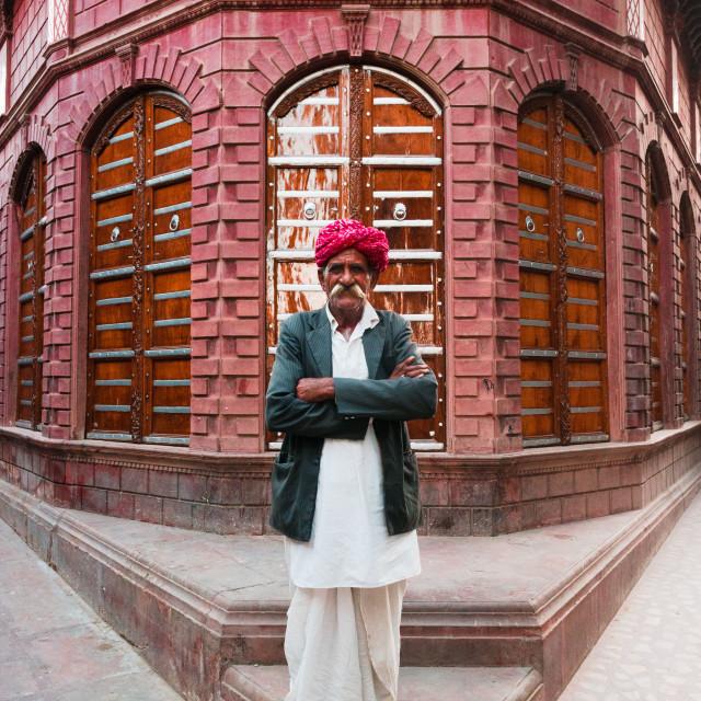 """""""Rajasthani man"""" stock image"""
