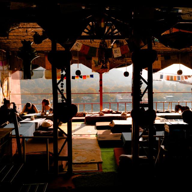 """Interior cafe Nepal"" stock image"
