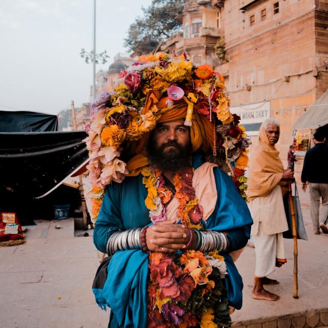 """""""Baba in Varanasi"""" stock image"""