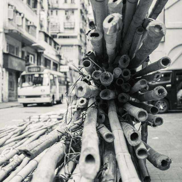 """""""Hong Kong Bamboo"""" stock image"""
