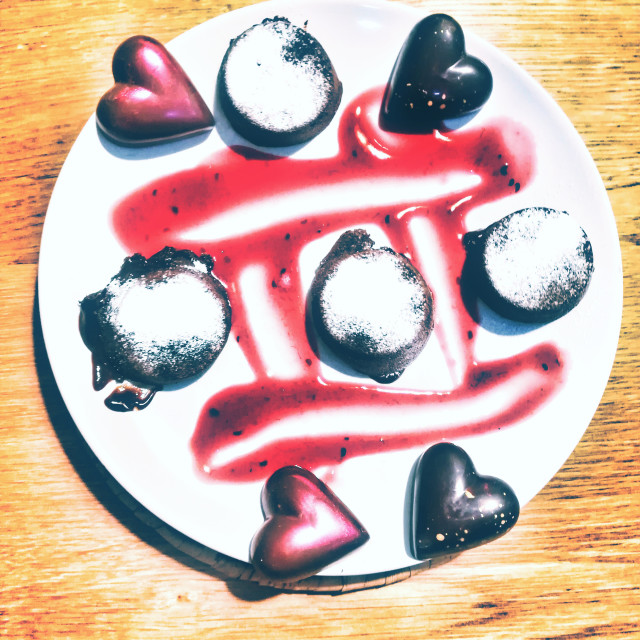 """""""Love on a plate"""" stock image"""