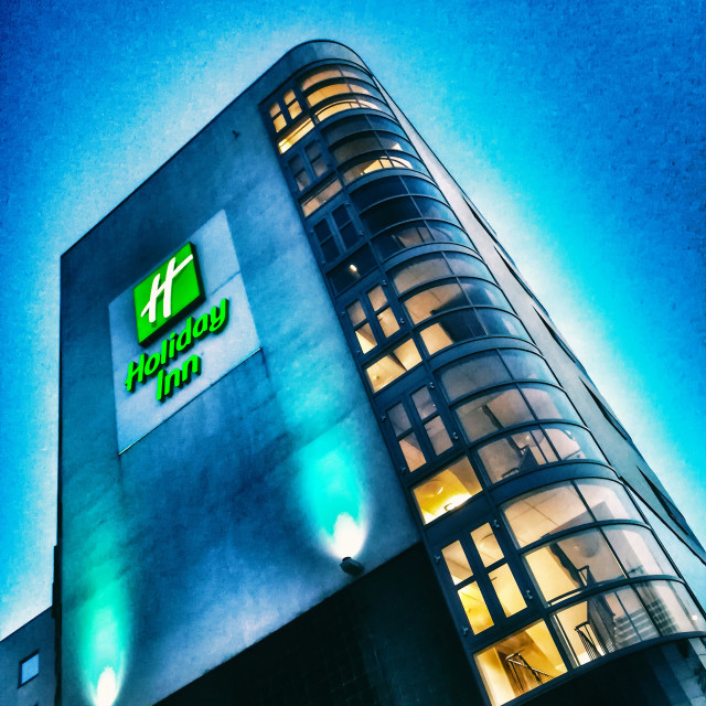 """""""A night at the Holiday Inn"""" stock image"""