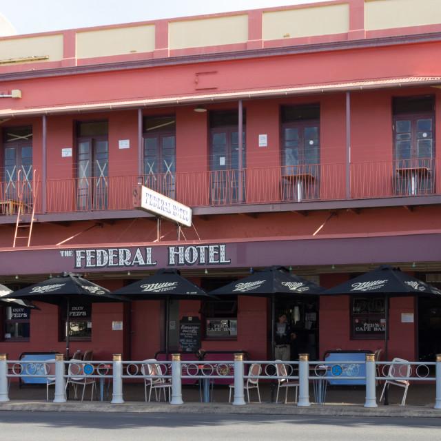 """The Federal Hotel, Maryborough, Queensland, Australia"" stock image"