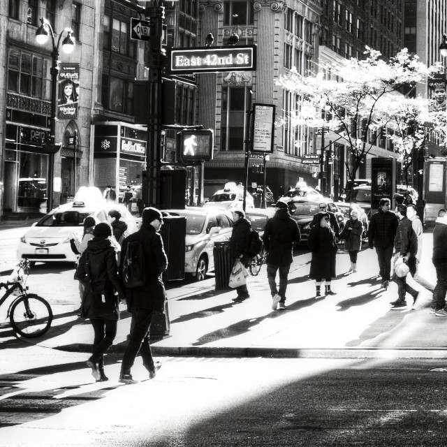 """Street Scene New York"" stock image"