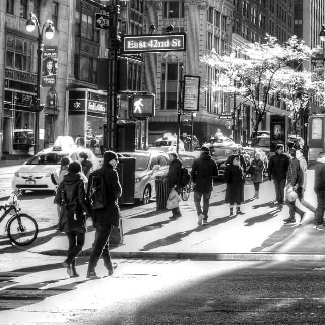 """East 42nd Street New York"" stock image"