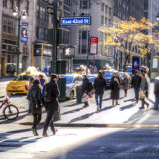 """""""East 42nd Street"""" stock image"""