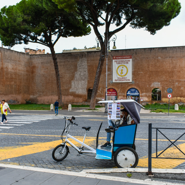 """Tourist Information in Rome"" stock image"