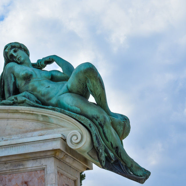 """""""Aurora in Piazzale Michelangelo in Florence"""" stock image"""