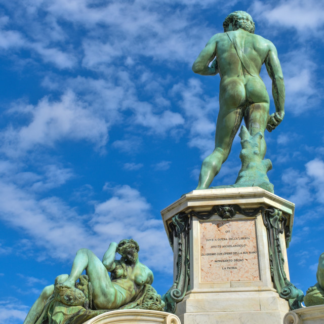 """""""David and The Night, Piazzale Michelangelo"""" stock image"""