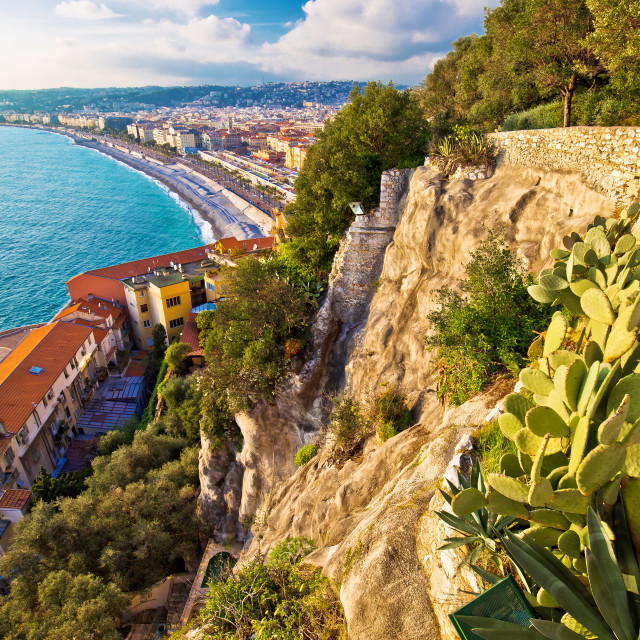 """""""City of Nice Promenade des Anglais waterfront aerial view"""" stock image"""