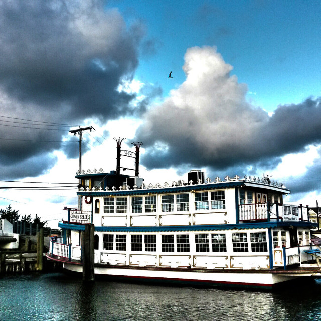 """FERRY RIVER BOAT"" stock image"