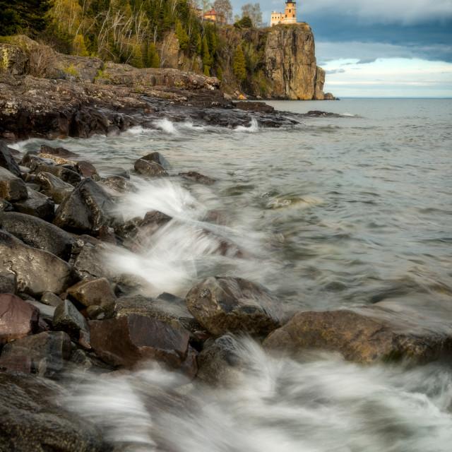 """Split Rock Lighthouse Waves"" stock image"