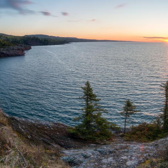 """North Shore Cliffs 1"" stock image"