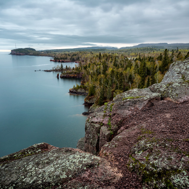"""North Shore Cliffs 2"" stock image"