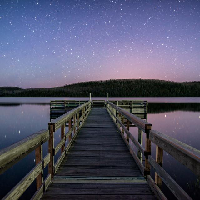 """""""Northern Night Sky"""" stock image"""