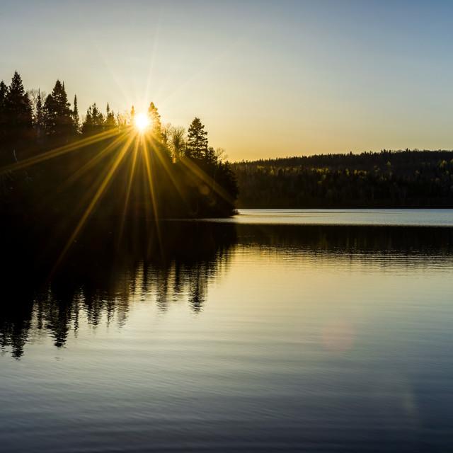 """North Woods Sunset"" stock image"