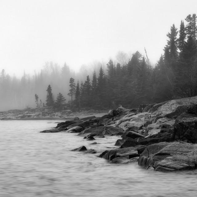 """""""Lake Superior Fog"""" stock image"""