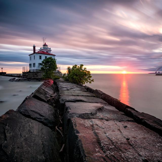 """Lake Erie Solstice"" stock image"