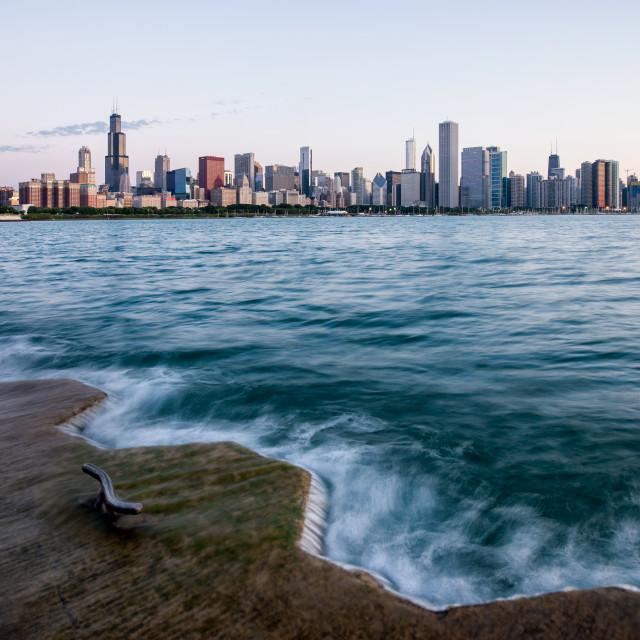 """Chicago August Twilight"" stock image"