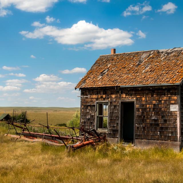 """Saskatchewan Homestead"" stock image"