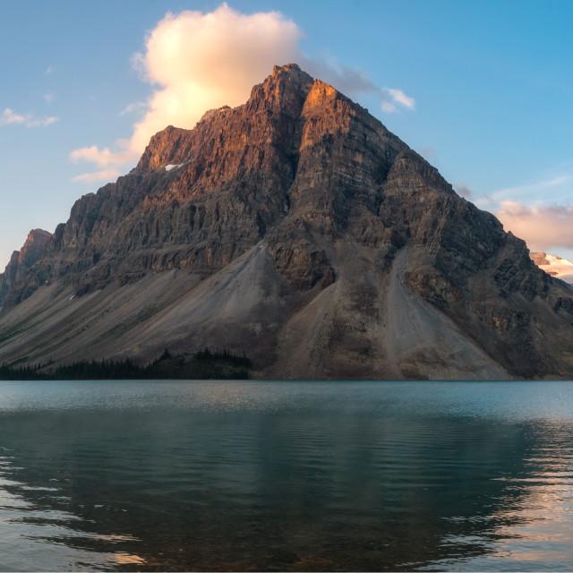 """""""Bow Lake Panorama"""" stock image"""