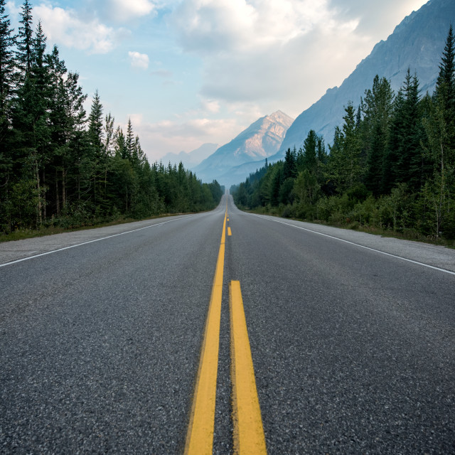 """Rocky Mountain Highway"" stock image"