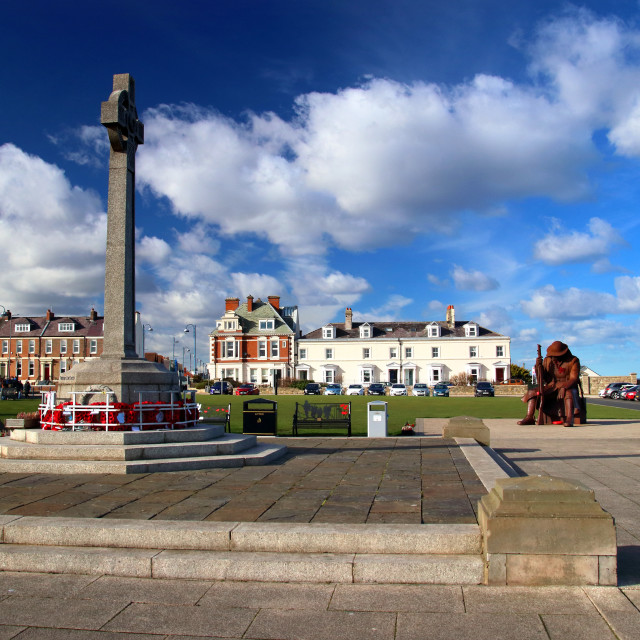 """Seaham - Tommy statue and war memorial"" stock image"
