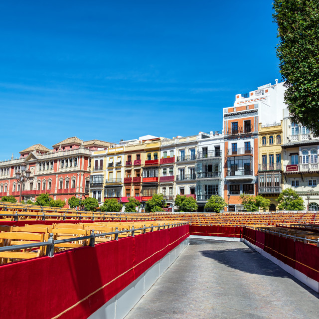 """Seating for Holy Week in Seville, Spain"" stock image"
