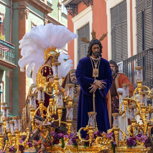 """Float in a Holy Week Procession"" stock image"