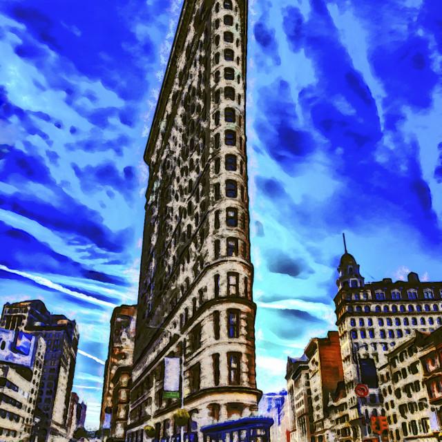 """Flatiron Building Art"" stock image"
