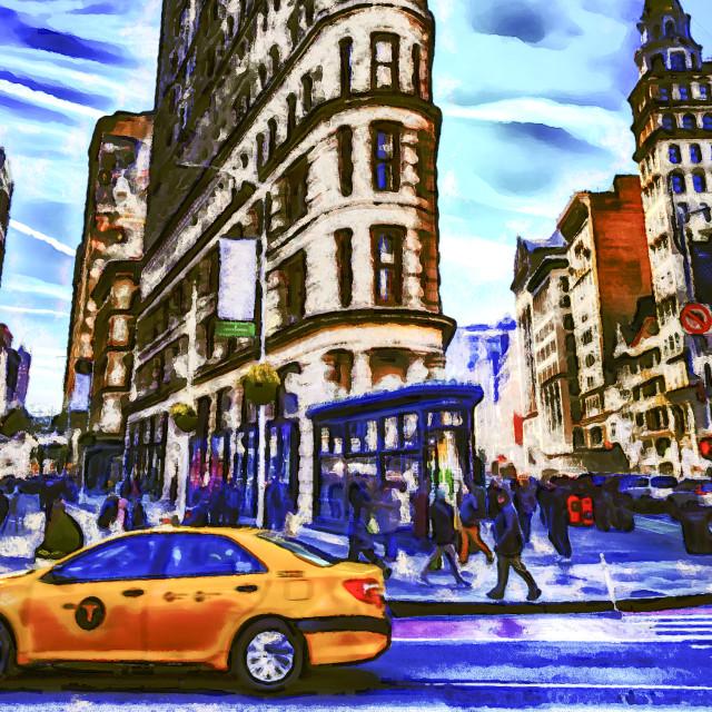 """Impressionist New York"" stock image"