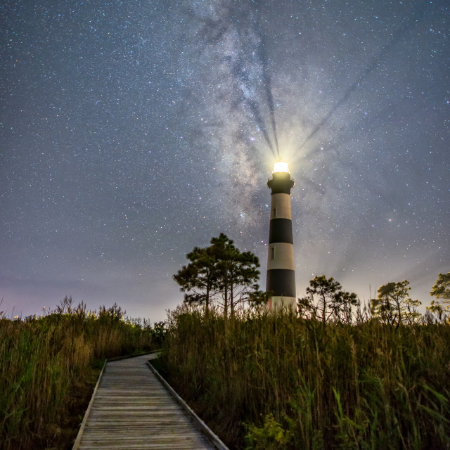 """Bodie Island Midnight"" stock image"