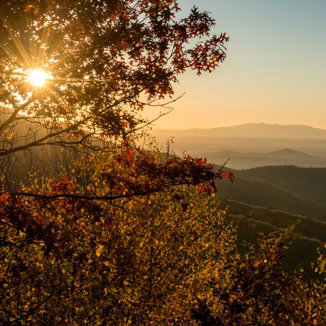 """Blue Ridge Autumn"" stock image"