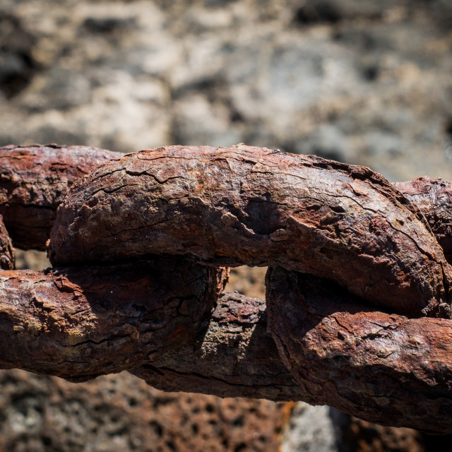 """Rusty chain closeup"" stock image"