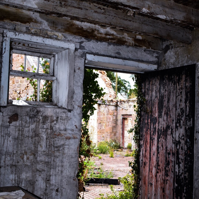"""Old doorway"" stock image"