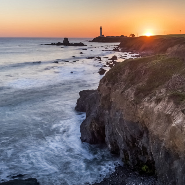 """Pigeon Point Lighthouse"" stock image"