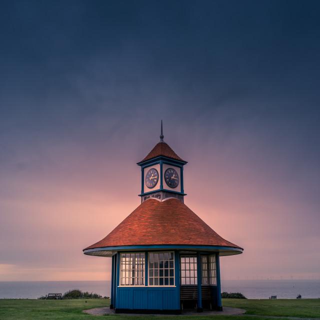 """Frinton on Sea Clock Tower Shelter"" stock image"
