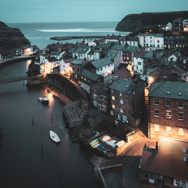 """""""Staithes Fishing Village, North Yorkshire"""" stock image"""
