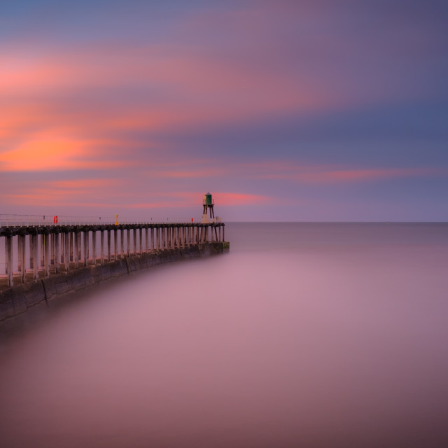"""""""Whitby Piers, North Yorkshire"""" stock image"""