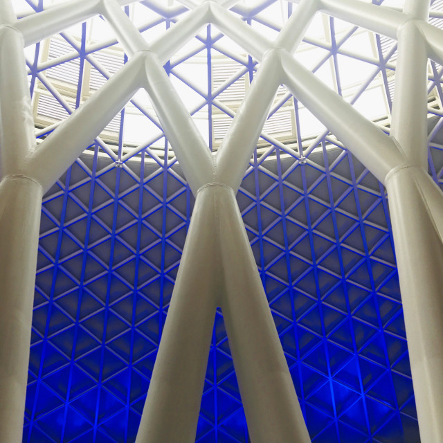 """King's Cross Canopy"" stock image"