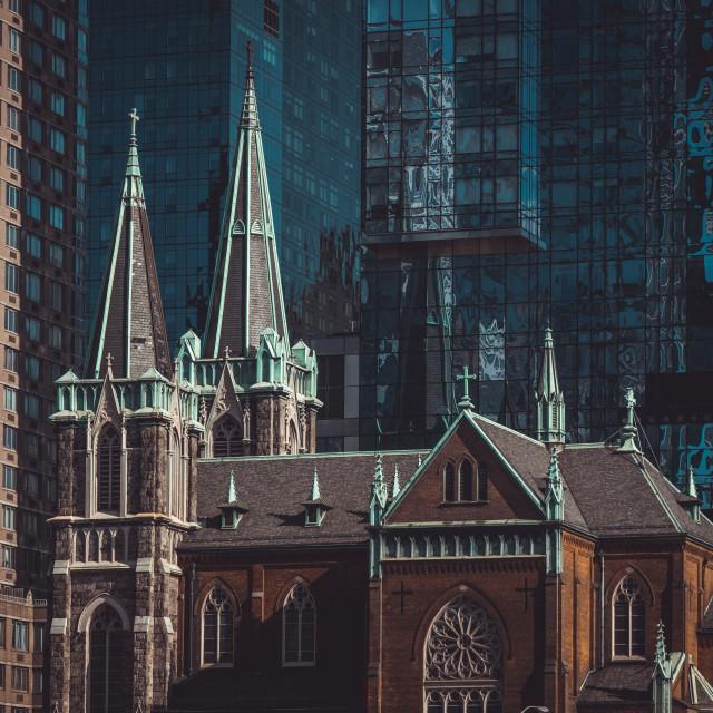 """Roman Catholic Church in Manhattan, NY"" stock image"
