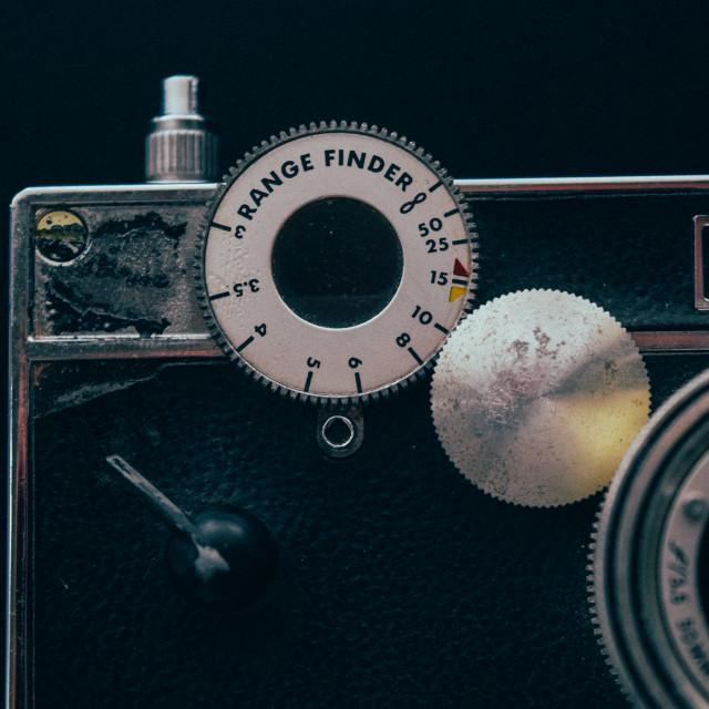 """""""Range Finder dial"""" stock image"""