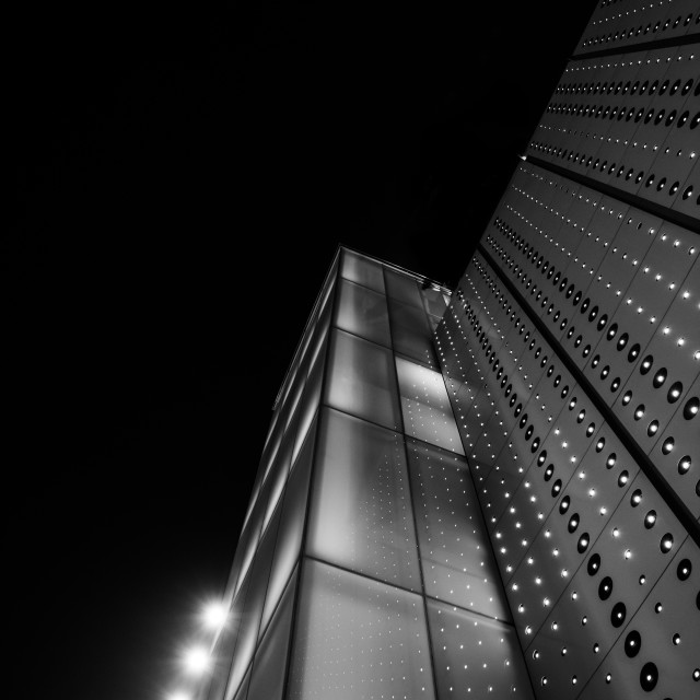 """Light tower - modern structure -architecture - Bankgok"" stock image"