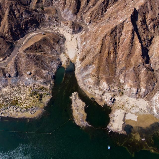 """Al Rafisah Dam in Khor Fakkan in the United Arab Emirates"" stock image"